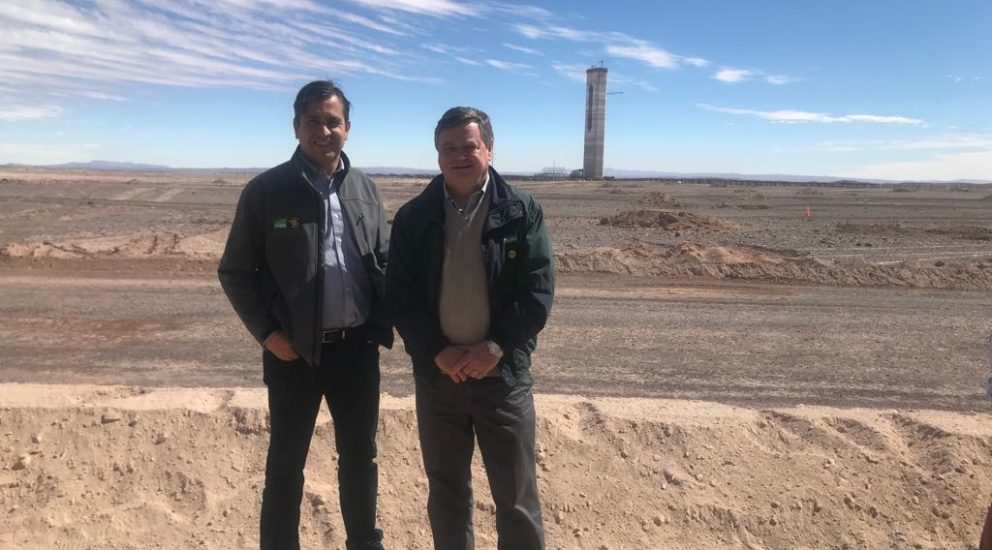 SQM presente en la primera planta termosolar de América Latina