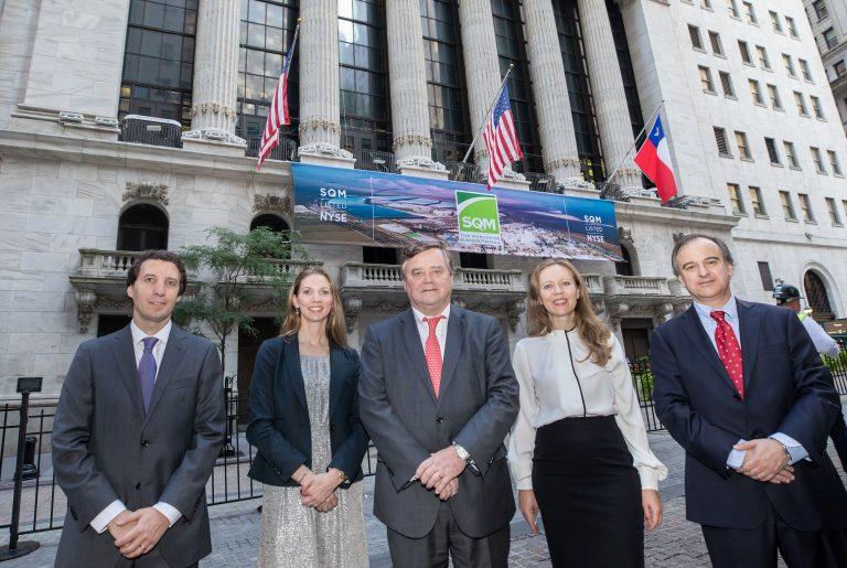 SQM celebró 25 años en la Bolsa de Nueva York