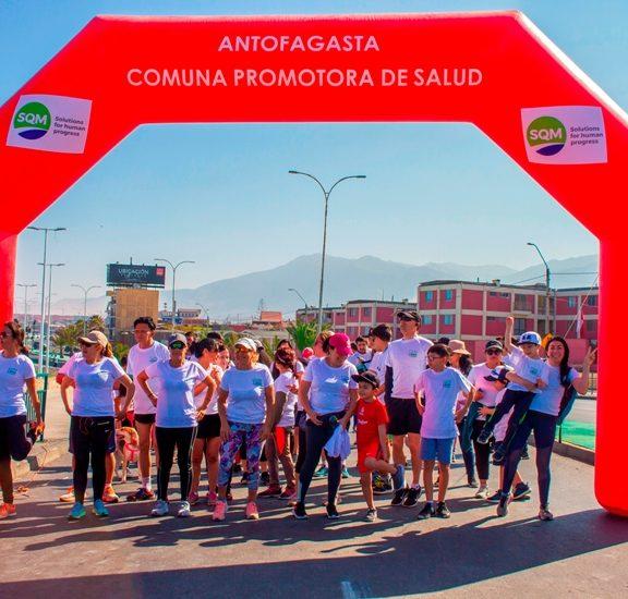 Corrida Familiar SQM: Antofagastinos se reúnen en torno al deporte y la vida sana