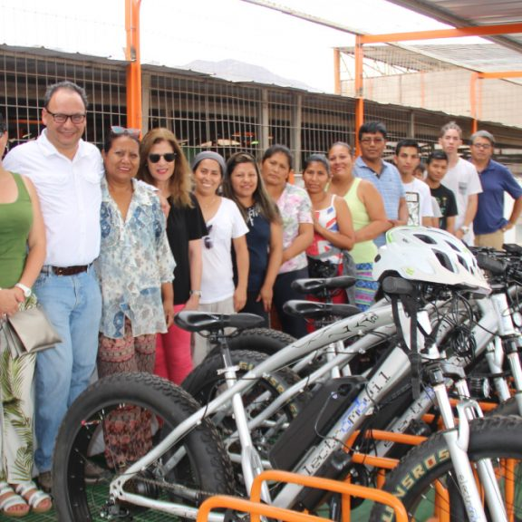 SQM Donates Electric Bikes to Technical Training Center in Luz Divina