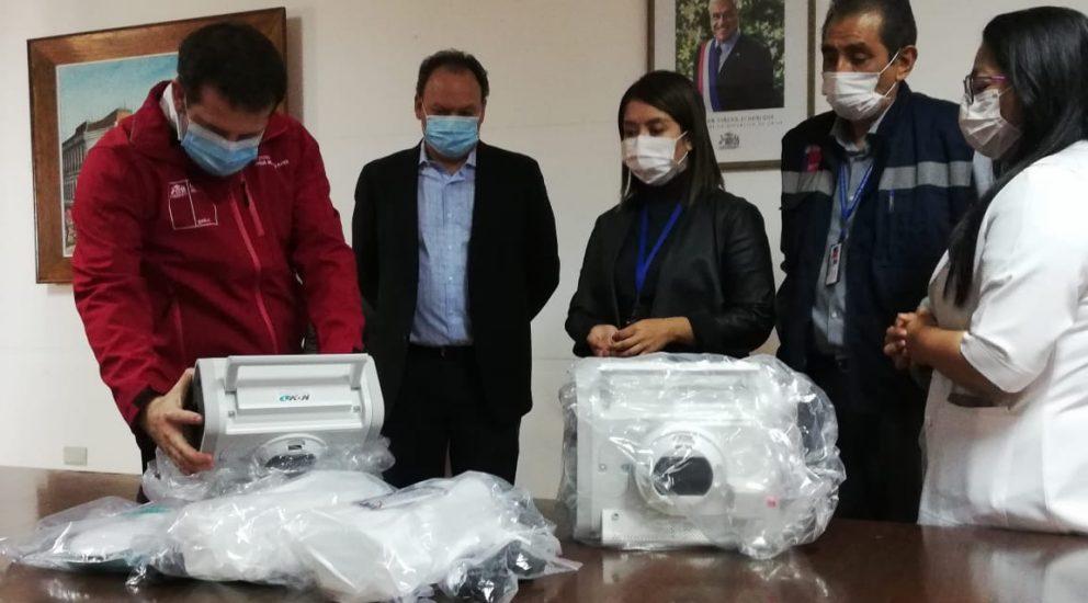 SQM entregó dos ventiladores mecánicos a la Red de Salud Pública de la Región de Antofagasta