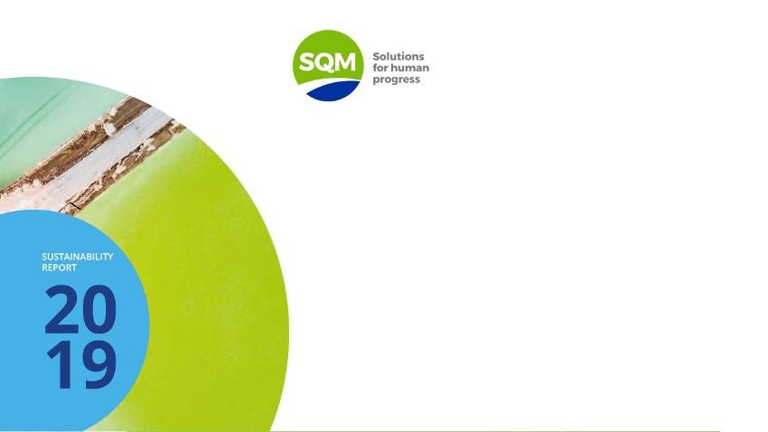 SQM presenta su desempeño a través de nueva versión del Reporte de Sustentabilidad