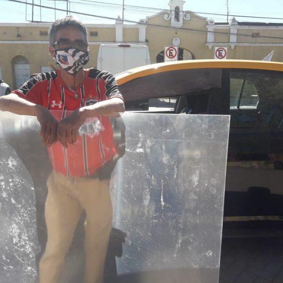 SQM junto a taxistas de María Elena combaten la propagación del Covid-19