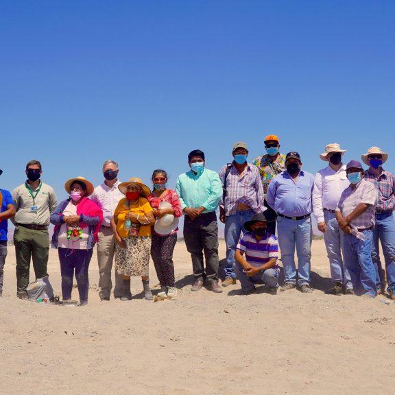Ganaderos de la Pampa del Tamarugal celebran inicio de obras de centro productivo de alfalfa