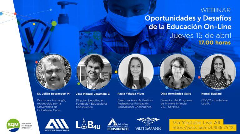 Webinar: Oportunidades y Desafíos de la Educación On-line