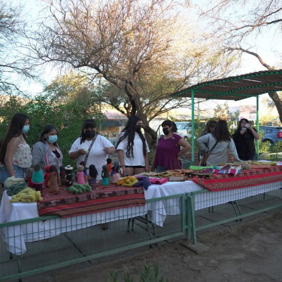 Quillagua Women Celebrate End of Weaving Workshop by Exhibiting their Creations